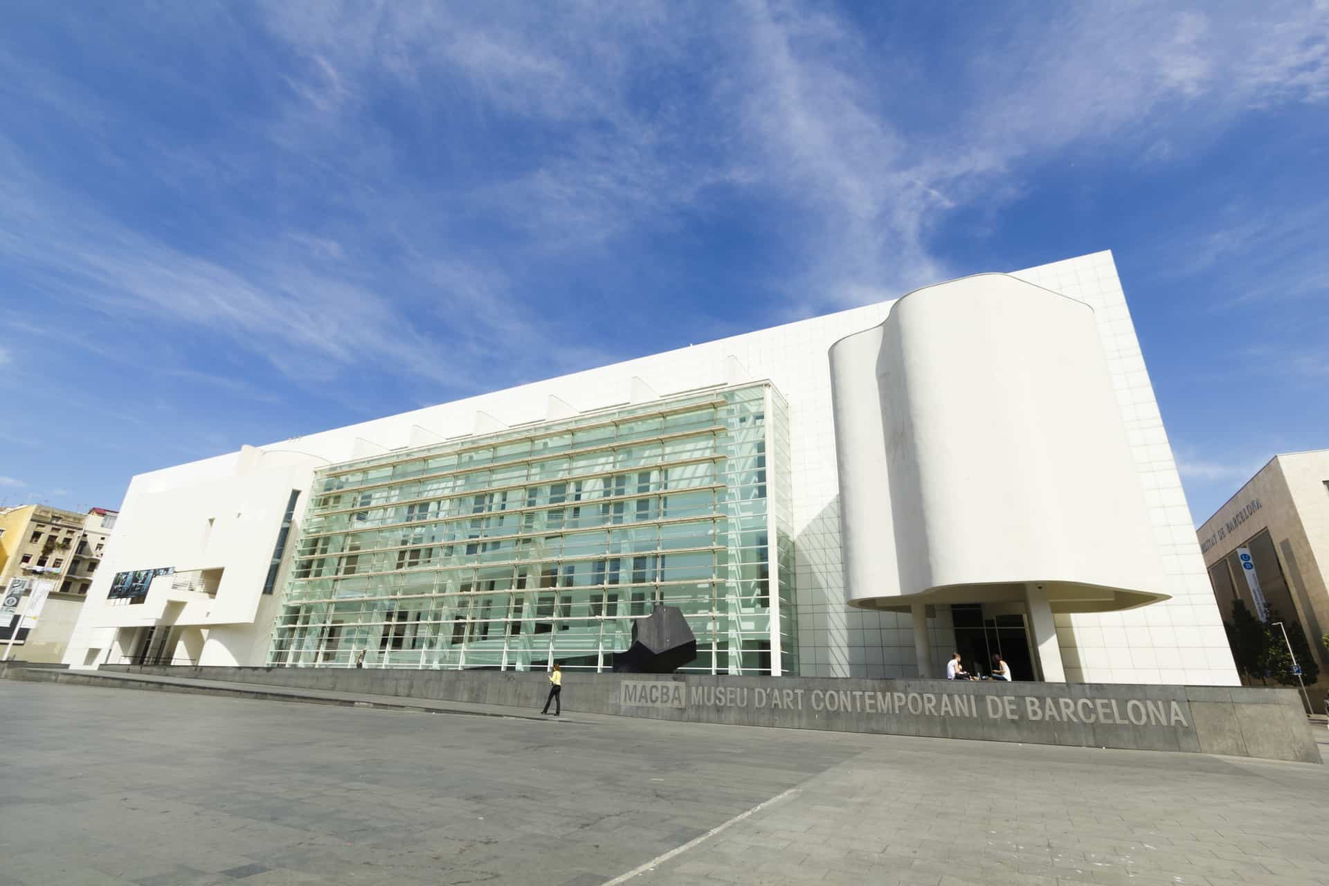 Macba Museum In Barcelona, Spain.
