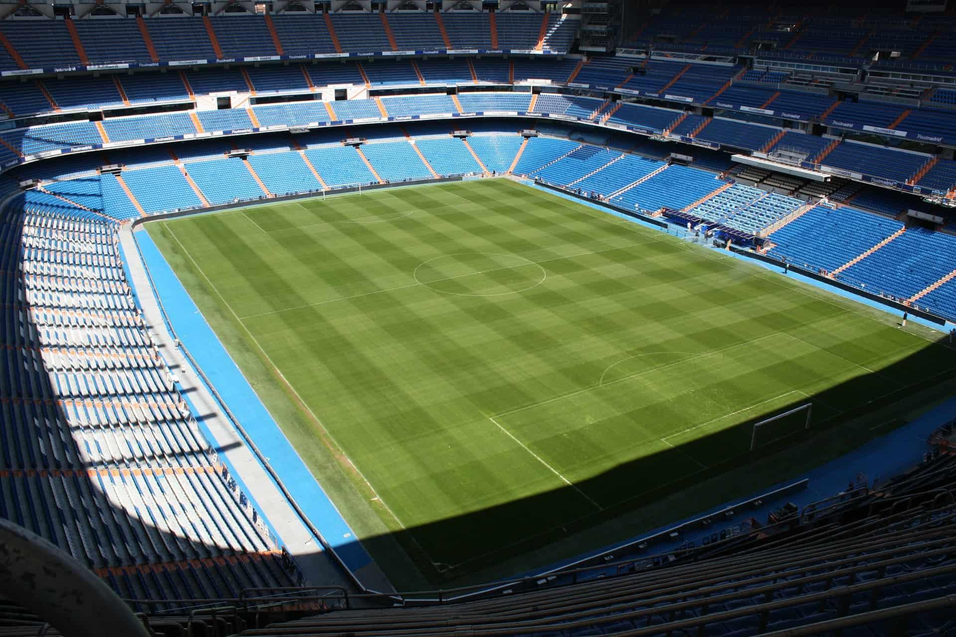 Santiago Bernabeu Stadion I Madrid Fodbold