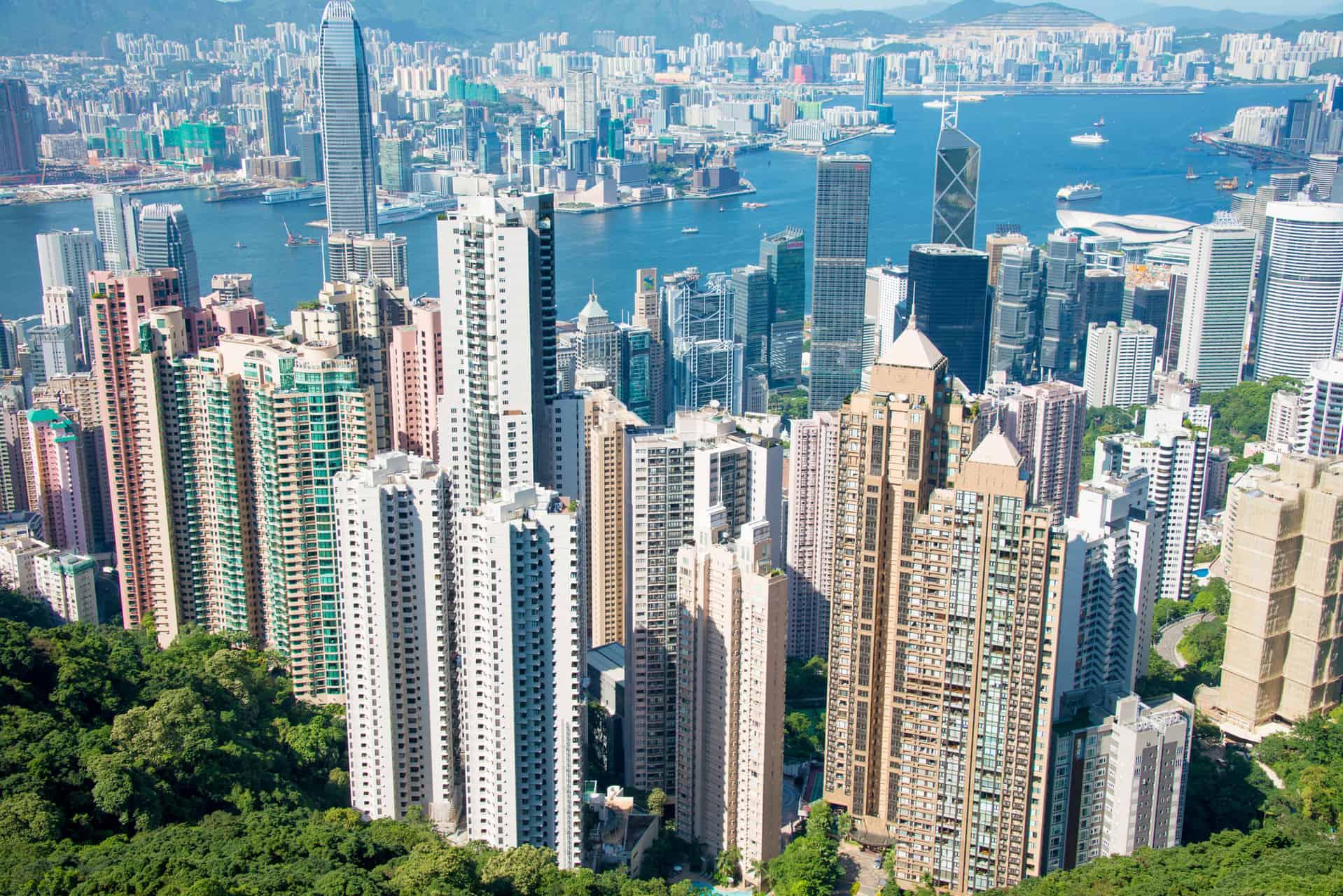 Udsigt over Hong Kong om dagen