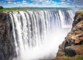 Victoria Falls I Zimbabwe I Afrika Et Utrolig Smukt Vandfald